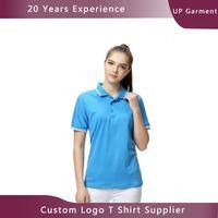 Low MOQ free logo design 210gsm polyester personalised t shirts