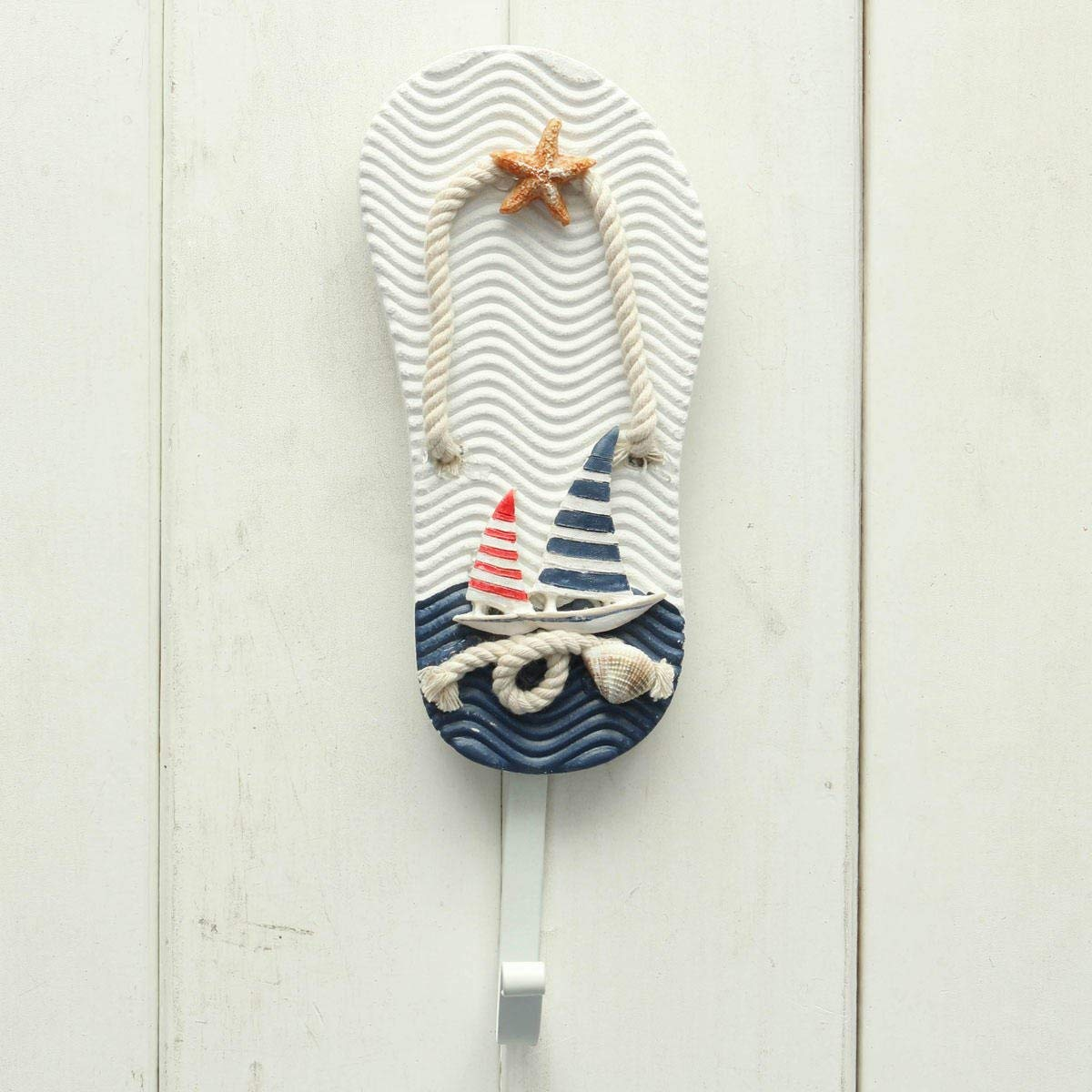 Pothook Wall - Nautical Wall Hook - Mediterranean Style Pothook Nautical Hat Clothes Home Wall Hooks Hangers Hanging Decoration - #1 ( Nautical Hanging Hooks )