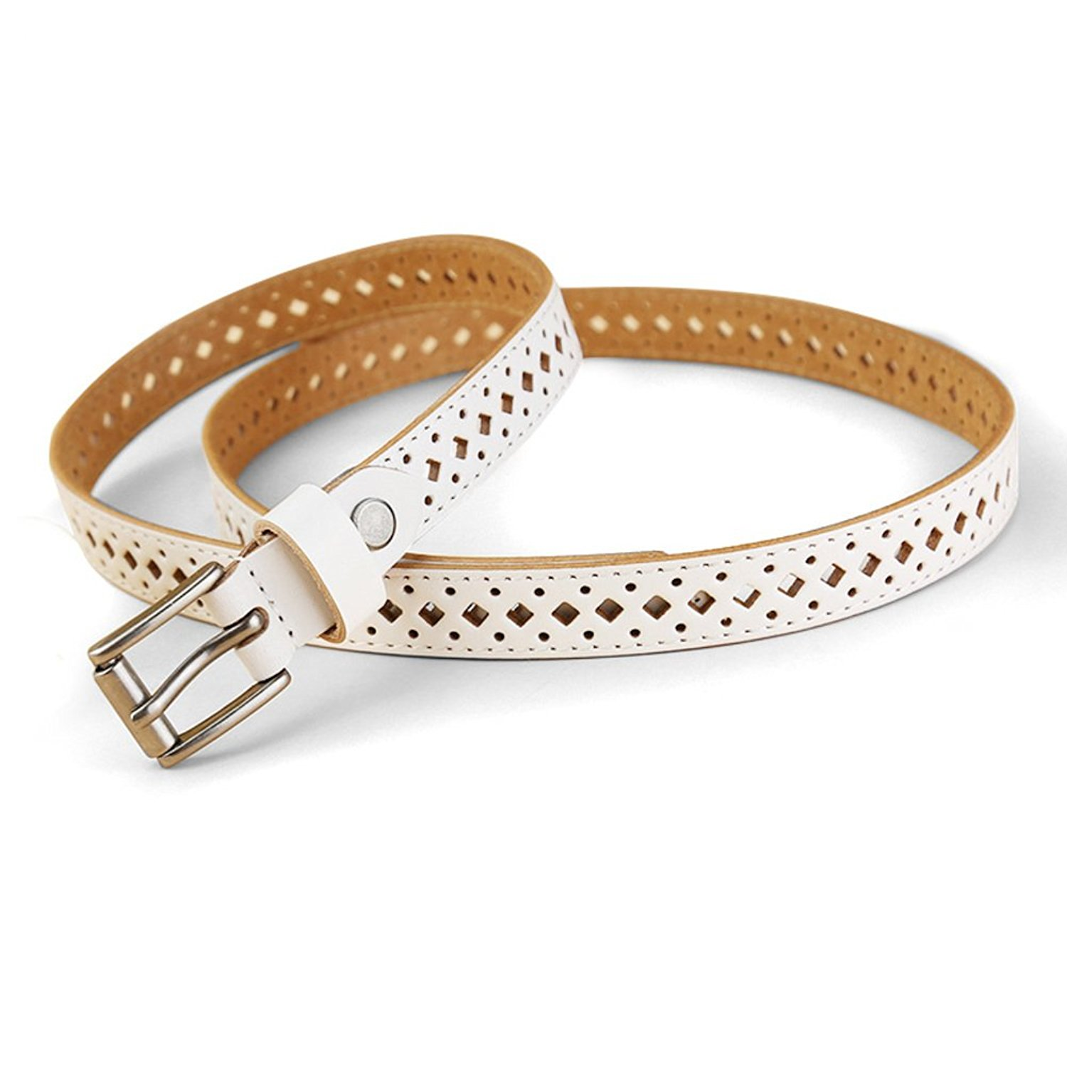 Leather Lady Decorative Narrow Band Belt,Service Dress Simple All-purpose Girdle