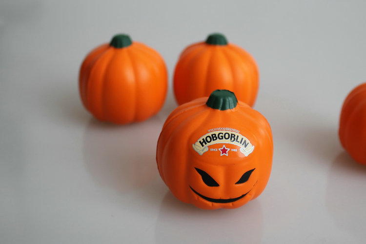 Helloween stress ball squeeze toy halloween pumpkin toys  pu stress ball
