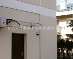 High quality polycarbonate roof door canopy brackets with steel frame & High Quality Polycarbonate Roof Door Canopy Brackets With Steel ...