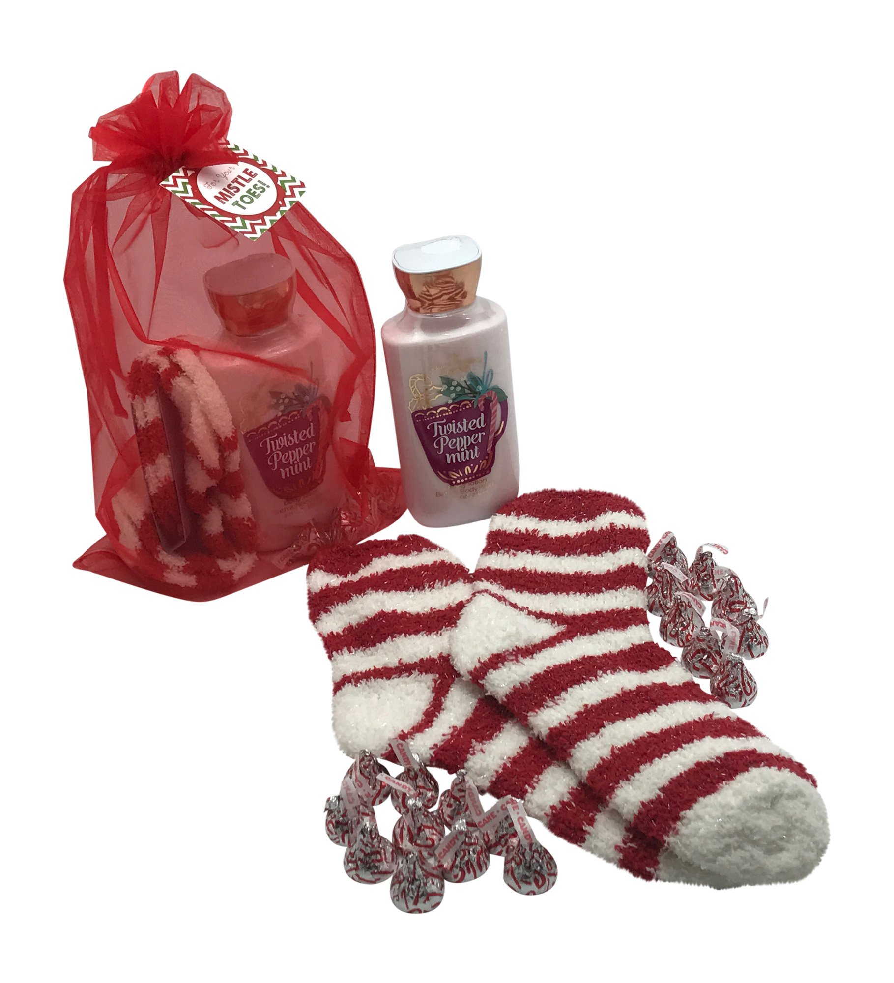 bath and body works gift sets christmas gift baskets wpeppermint lotion and hershey peppermint