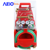 portable cutting kit heavy duty including american type cutting and welding torch,oxygen regulator and acetylene regulator