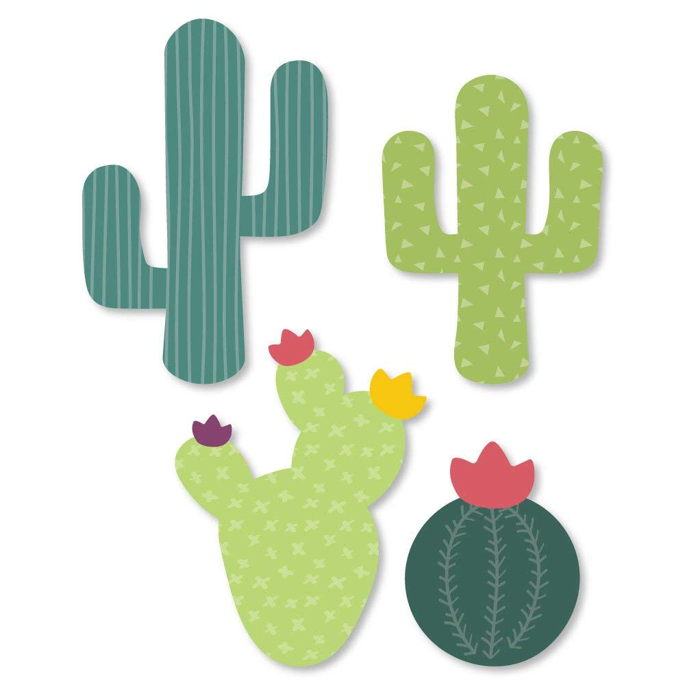 Big Dot of Happiness Prickly Cactus Party - DIY Shaped Fiesta Party Cut-Outs - 24 Count
