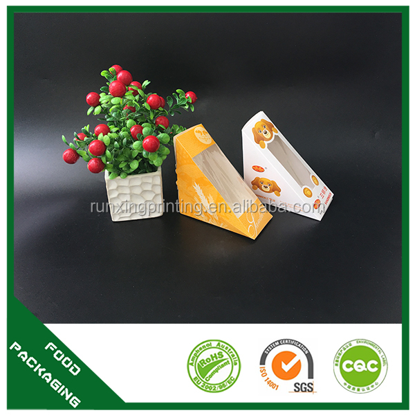 High quality updated tack away paper packaging sandwich box
