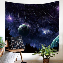 Multicolor Popular Handicrafts New Launched Home Decor Galaxy Night Starry Sky Custom Hippie Tapestry Wall Hanging 035