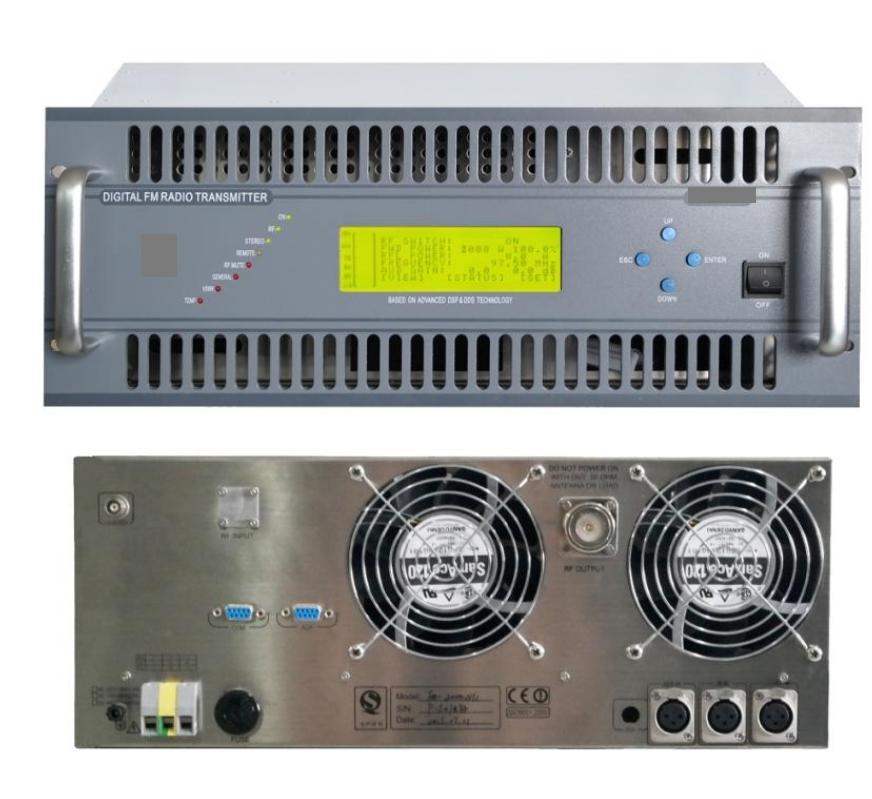 2KW FM Transmitter radio broadcast equipment