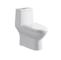 Hot selling ceramic white wc toilet modern one piece toilet sitting wc siphonic toilet