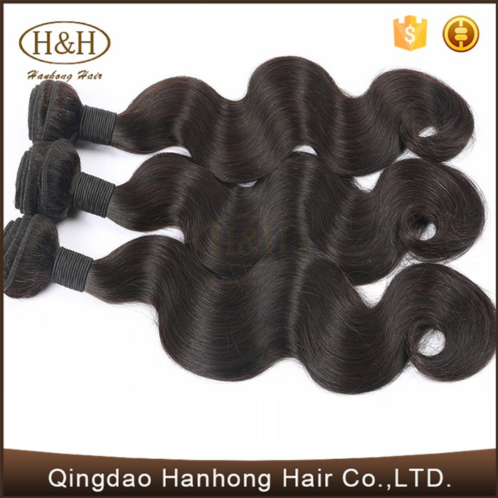 New Design Black Human Hair Body Wave Brazilian synthetic hair for braiding