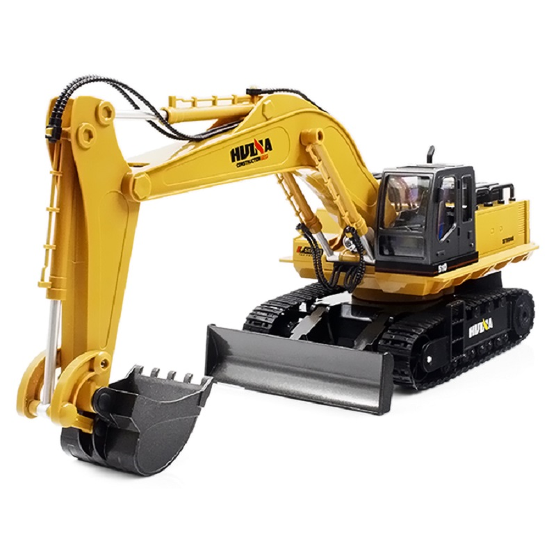 Very Popular 2.4GHz Huina 1510 11CH Alloy RC Excavator toy Charging Excavator <strong>Mini</strong> for kids