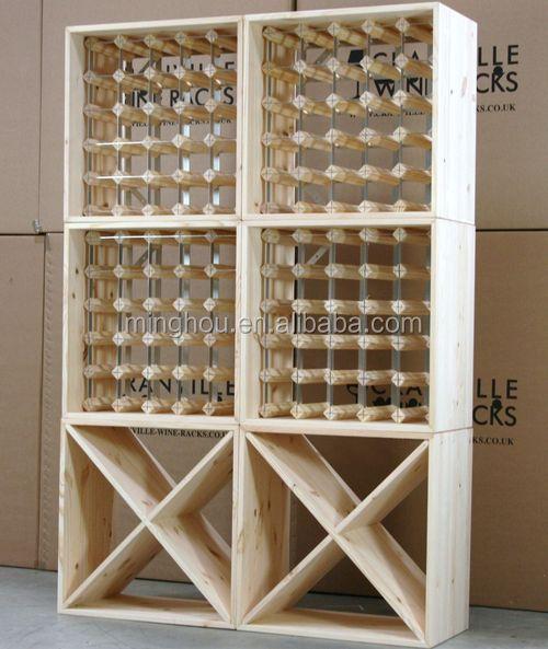 Tutti In Legno Classico Vino Rack Piazza Bottiglia Di Vino Titolare