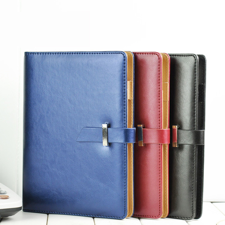 2015-Business-Leather-Notepad-Loose-leaf-notebook-Pearl