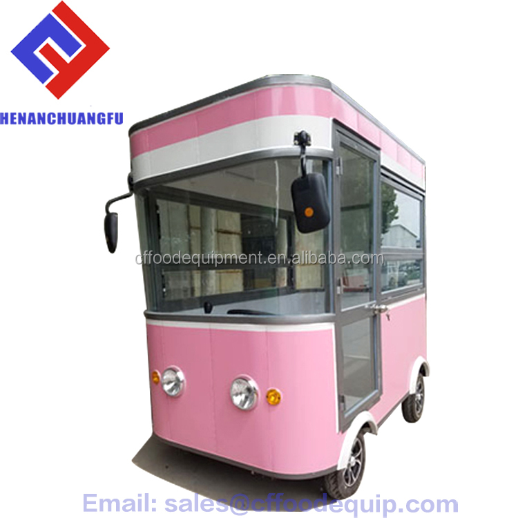 New Mobile Ice Cream food Trailer/Pizza Trucks/Sandwich Vans For Sale