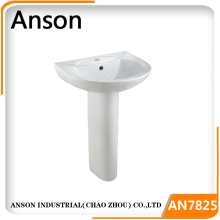 bathroom hand wash basin with pedestal ceramic basin