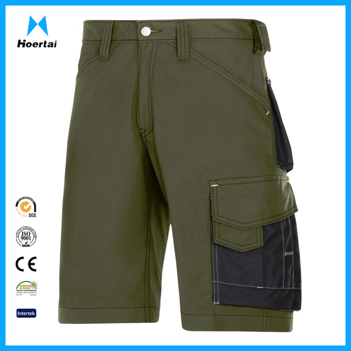Custom Made Cotton Twill Mens Cargo Work Shorts