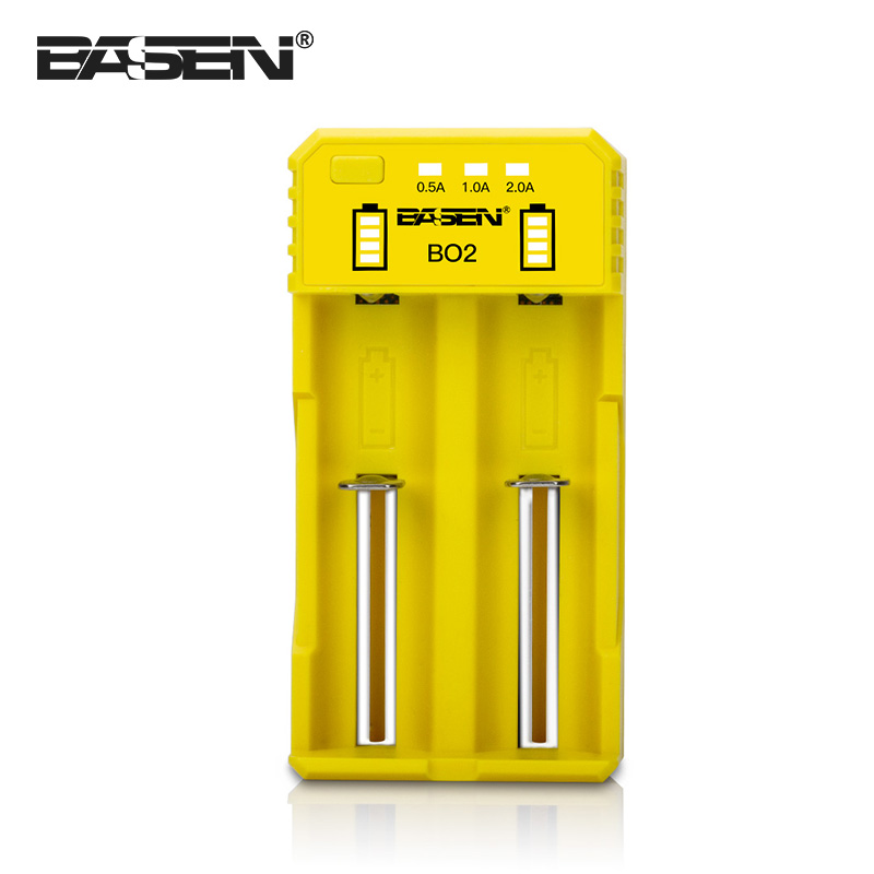 Colorful Basen BO2 li-ion battery charger fast charging 0.5a 1a 2a charging current lithium ion battery charger