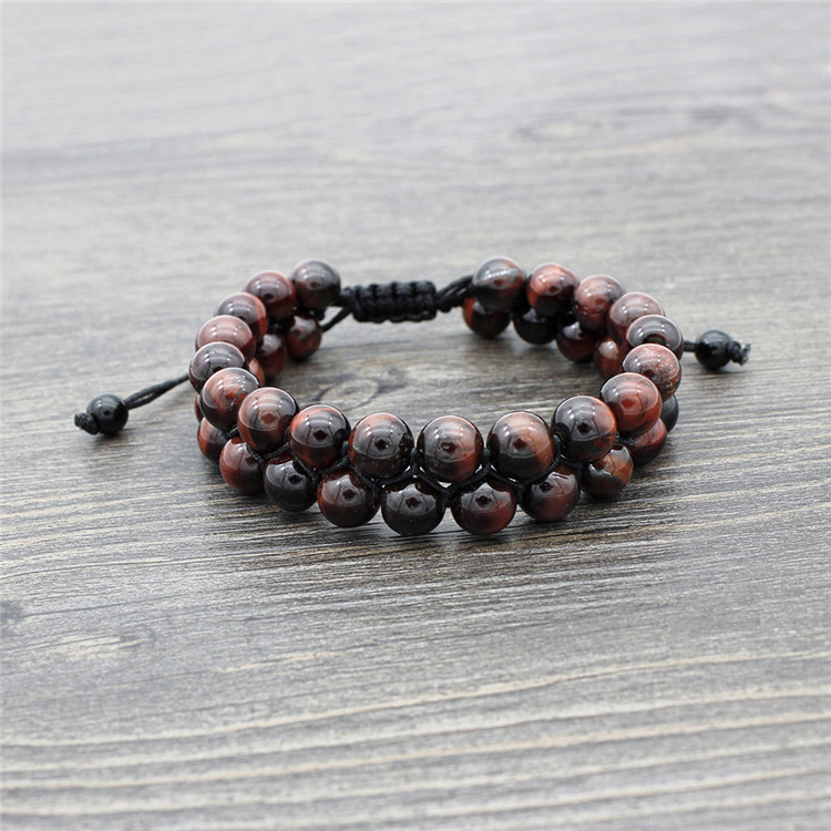 Tiger eye Natural Stone bracelet for Men and Women XMAS Gift Jewelry