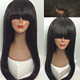 Top quality 100% virgin brazilian long remy black bald human hair head wig curly wig with hair
