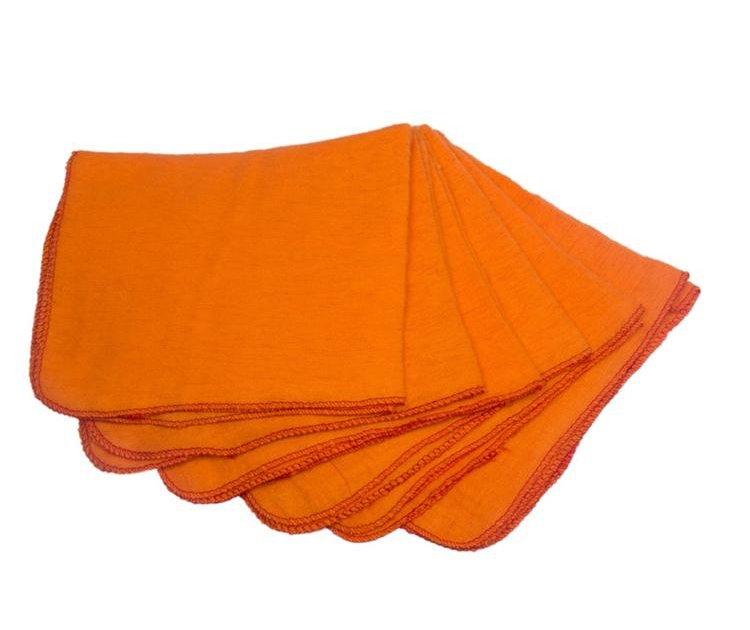 orange super absorbent cotton flannel cleaning cloth
