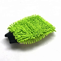 Window Cleaning green Car Washing Microfiber Chenille Mitt