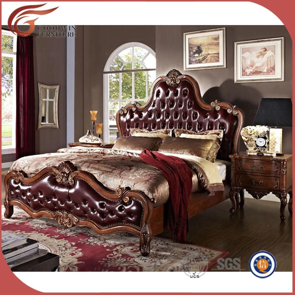Bois massif chambre ensemble, royale mobilier de chambre de luxe ...