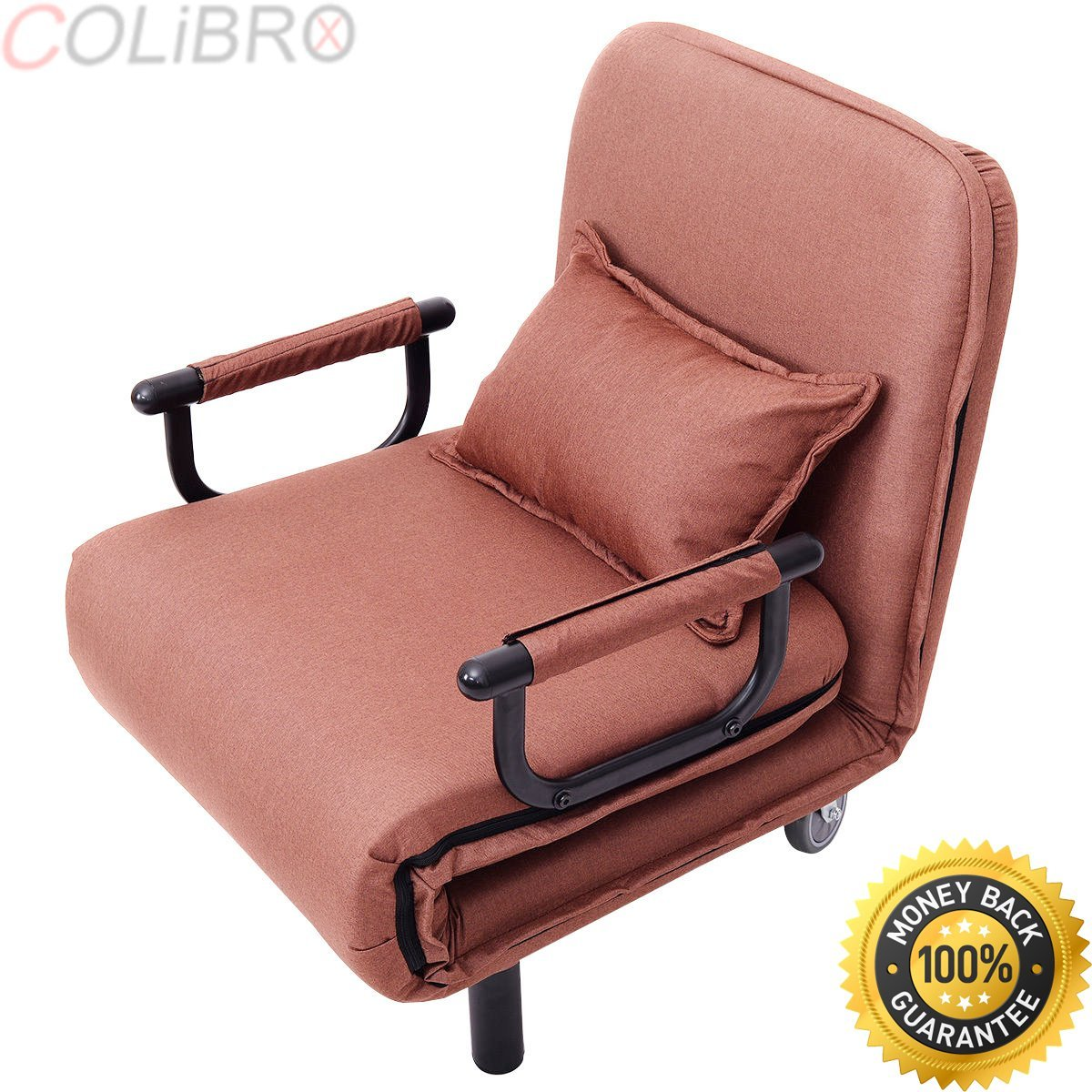 Get Quotations · COLIBROX  Convertible Sofa Bed Folding Arm Chair Sleeper  Leisure Recliner Lounge Couch New.