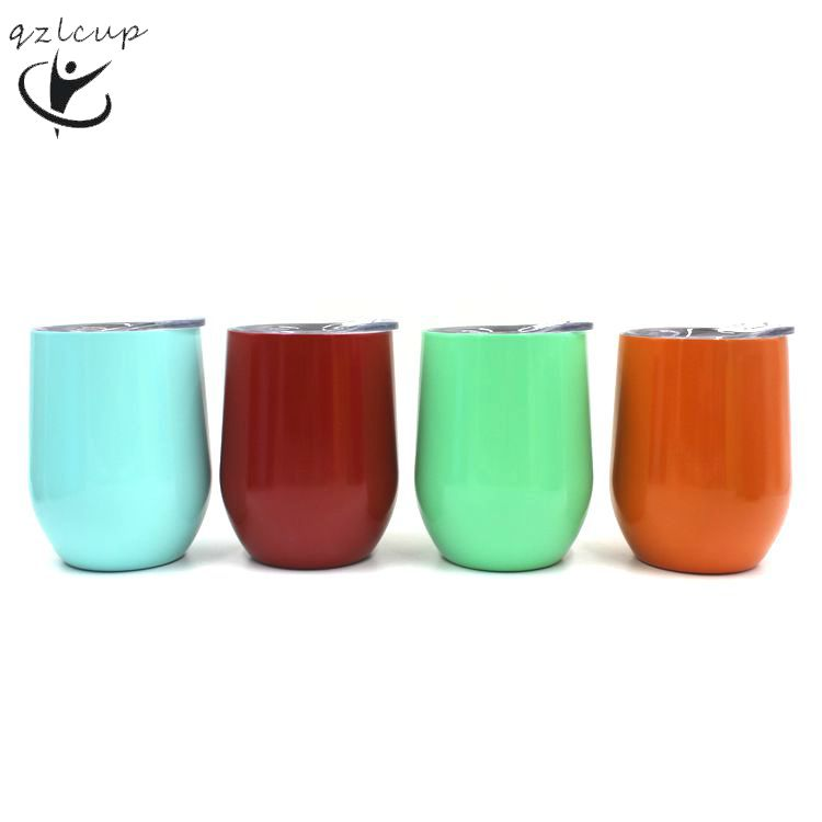 f605aaaf7ed5 Wholesaler double wal vacuum stainless steel travel stemless wine glass  with clear lid,coffee tumbler
