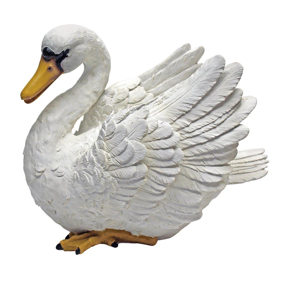 Design Toscano The Swan of the Lake Garden Statue, Multicolored