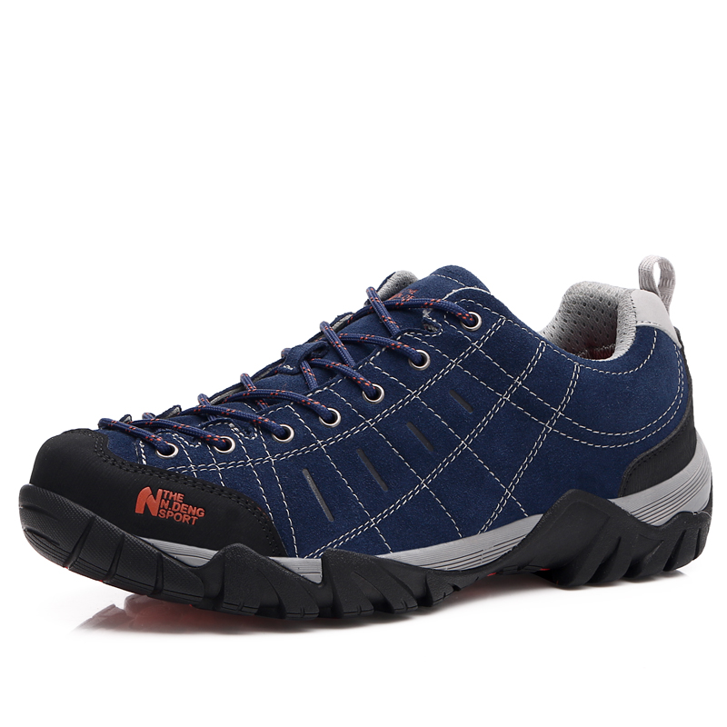 Leather Low Top Hiking Shoes