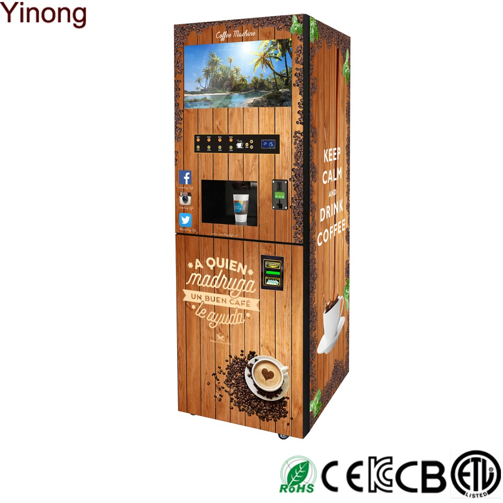 commercial coffee machine with water dispenser