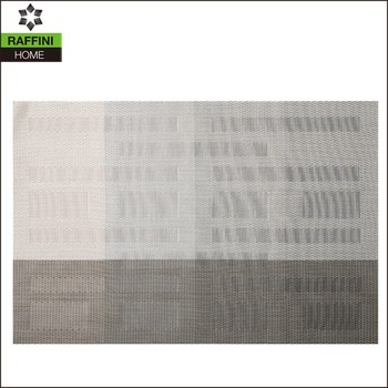 China Anti Heat PVC Modern Jacquard Dining Mat
