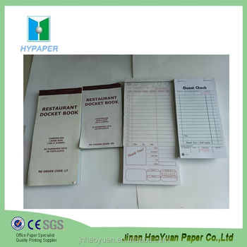 Carbon Restaurant Order Pad Book With Two Sheets Carbon Copy Paper ...