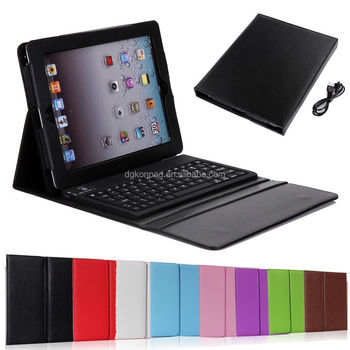 For Apple Ipad 1/2/3/4 Leather Bluetooth Wireless Keyboard Case ...