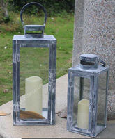 Antique candlestick vintage style metal lantern