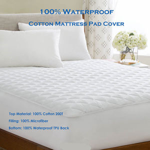 Grade A Terry Fabric Polyester Skirt Hypoallergenic Waterproof Mattress Protector