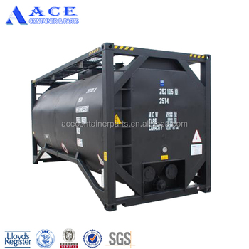 20000L UN 20ft Container Frame T3 Bitumen Transportation Tank