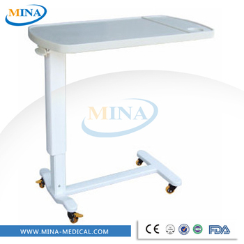 MINA G06 B Cheapu0026 Mobile Hospital Bed Tray Table,over Bed Table With
