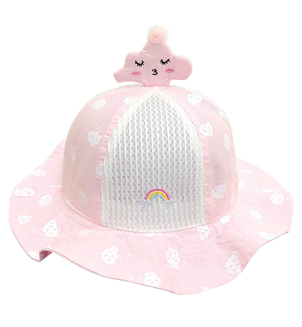 Get Quotations · Sumolux Toddlers Baby Sun Hat Cute Girls Boys Clouds Mesh  Large Brimmed Cotton Sun Protection Floppy 8991832fbd58