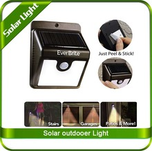 Swiftly Done Bright Solar Power Outdoor LED Light No Tools Required Peel and Stick Motion Activated