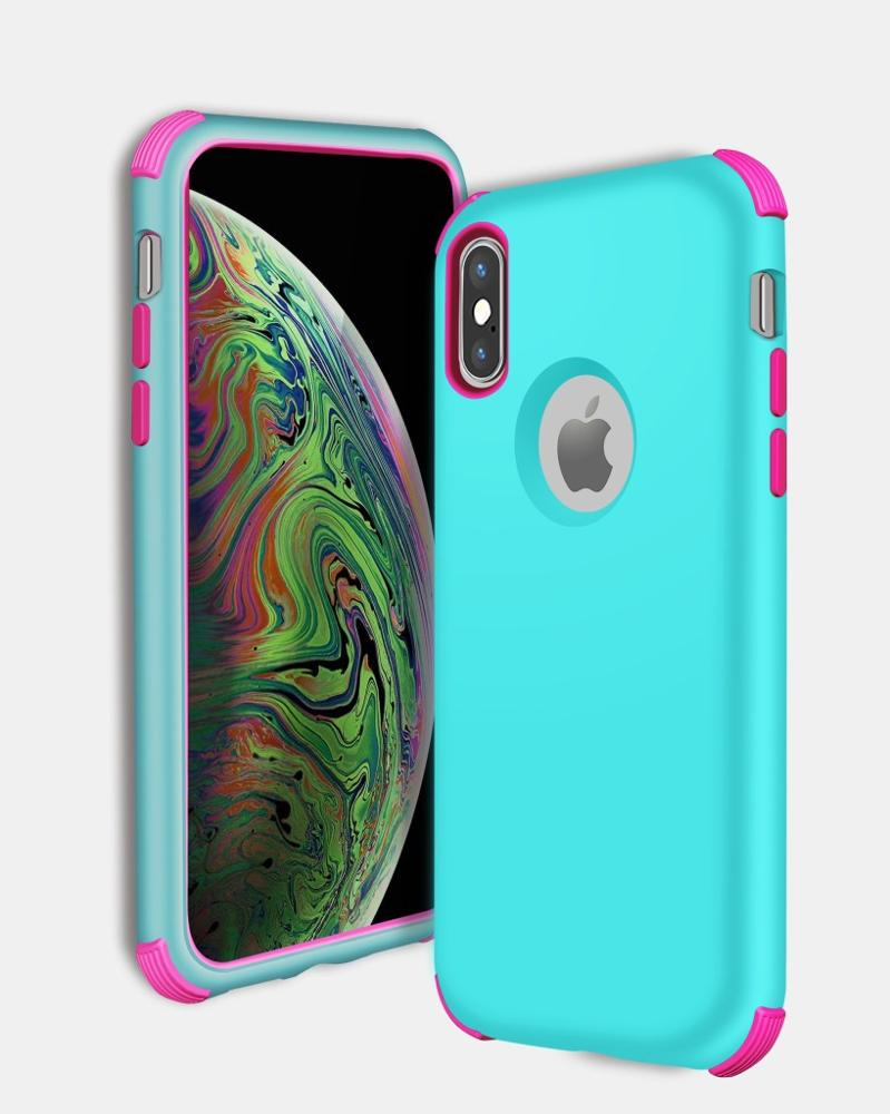3 in 1 Armor 360 Protective Phone Case For iPhone XS Max XR XS X 8 7 6S 6 Plus PC + TPU Shockproof Rugged Hybrid Duty Cover