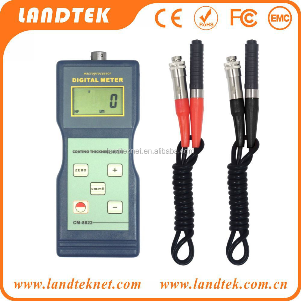 CM-8822 Paint Coating Thickness Meter Gauge F/&NF Probes 0~1000 um free shipping