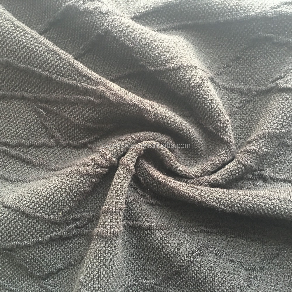 rayon polyester spandex cord crepe brocade jacquard knit fabric for suitting