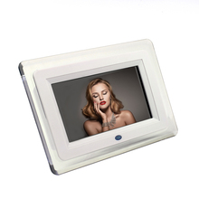 "7"" Digital Photo Frame Full-view HD TFT-LCD electronic porta retrato Alarm Clock Slide MP3/MP4 Movie Player with Remote Desktop"