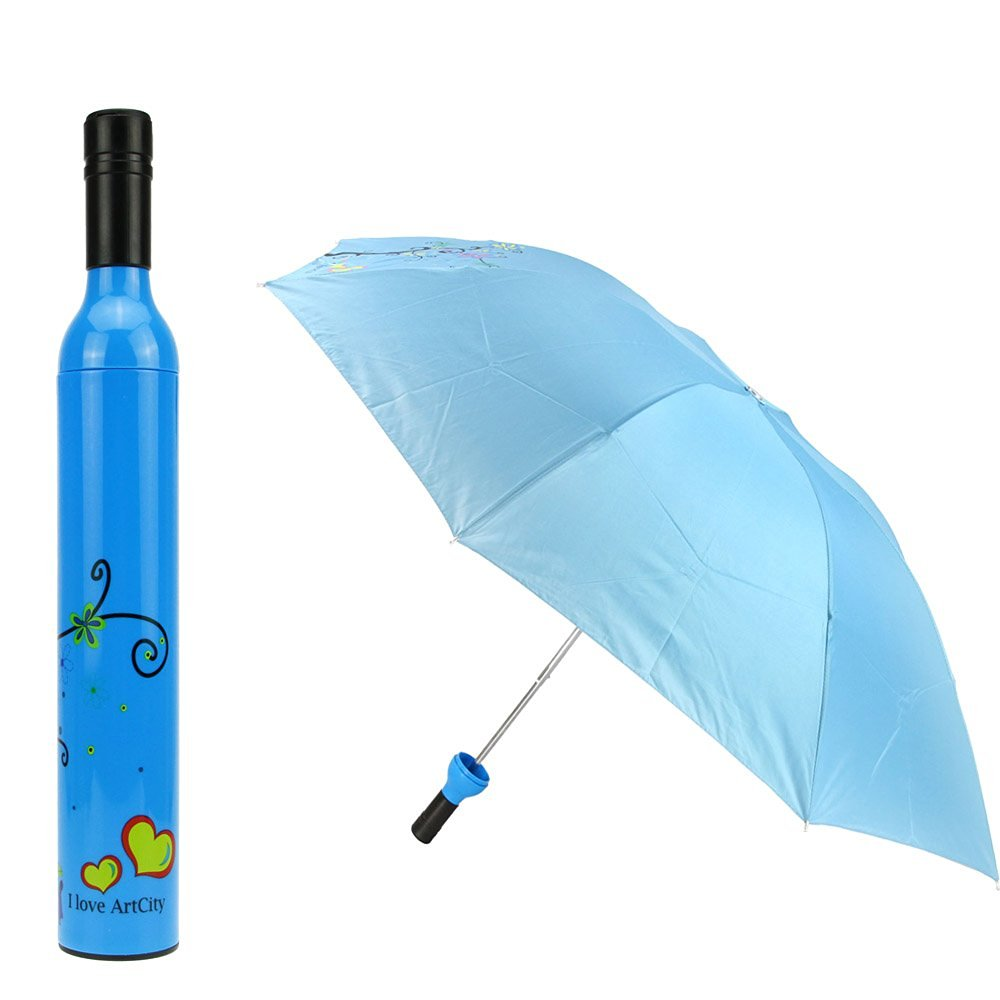 free sample wholesale cheap multi color various patterns available wine bottle umbrella