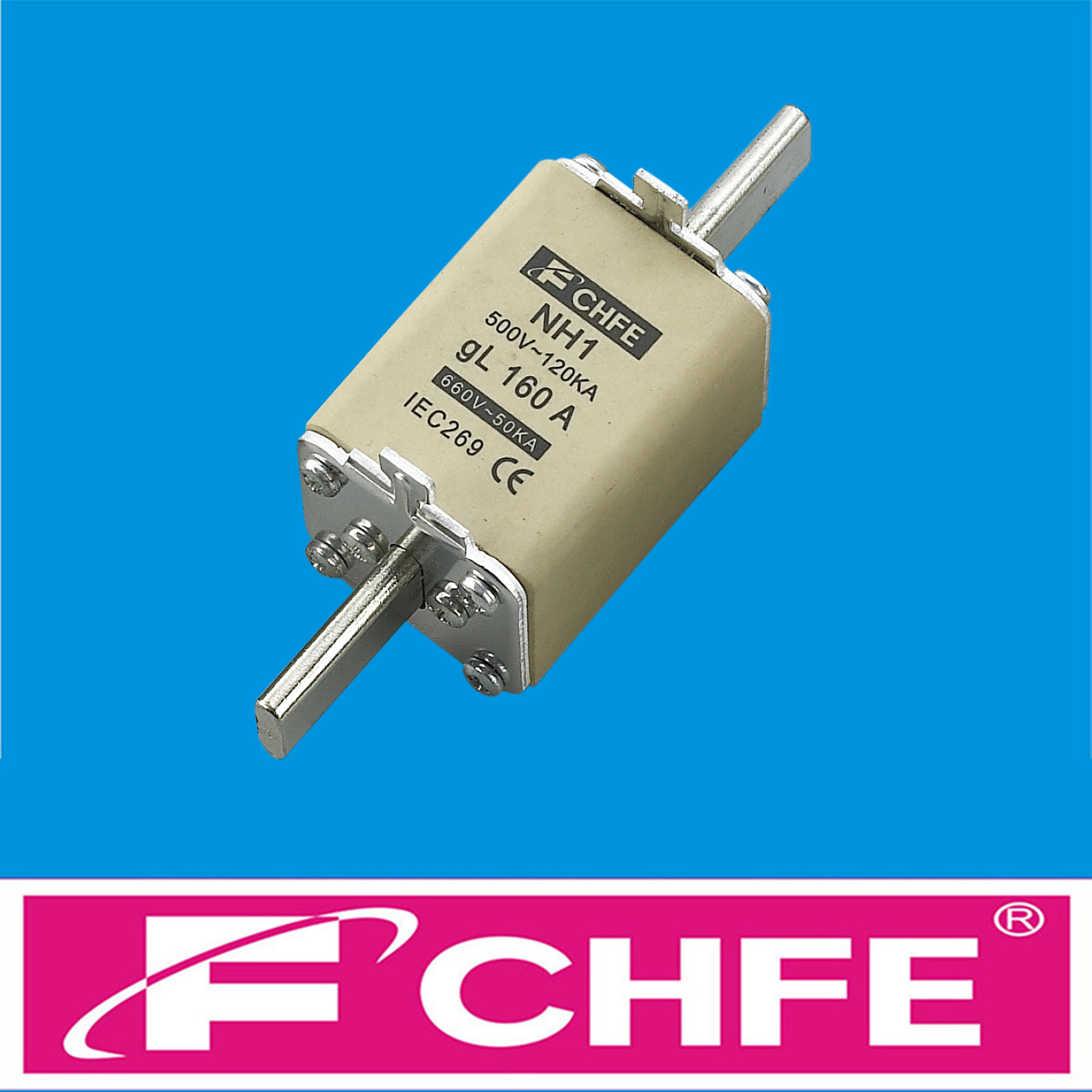 NH1 (NT1) Knife blade fuse 125A CHFE Brand China fuse