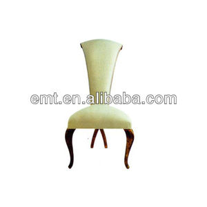 Star hotel design furniture with white high back for hotel dining room(EMT-HC142)