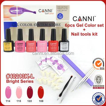 40213a Canni Wholesale Nail Art Gel Color Polish Kit Full Uv Gel