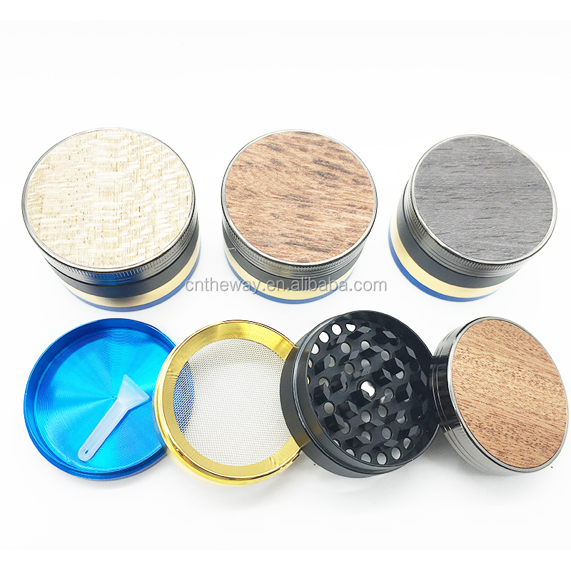 4 Layers New Grinder Weed Herb Tobacco Chicha Hookah Smoke 40mm Crusher Grinder Hand Muller