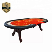 Custom Round Solid Wood Poker Table Texas Table de Poker