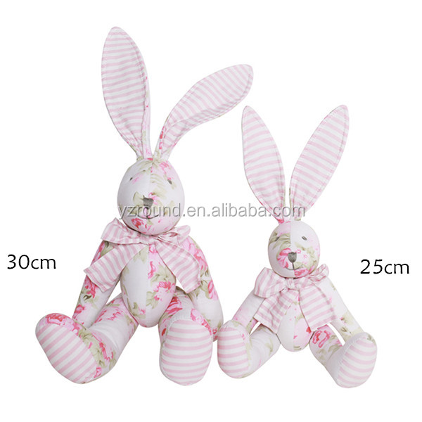 Fabric long ears rabbit cute new pattern soft toy